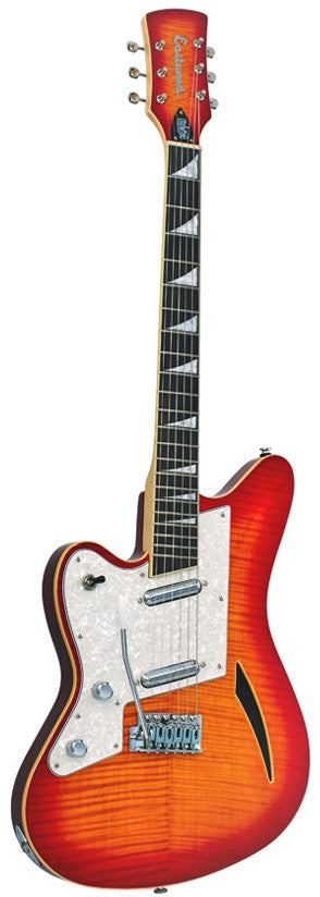 Eastwood Surfcaster Guitar - Cherry Sunburst Left Handed