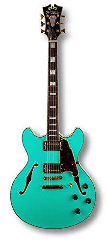 D'Angelico EX-DC Doublecut Semi Hollow Guitar in Surf Green Finish with Case
