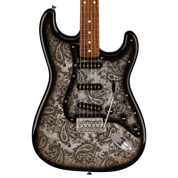 Fender Limited Edition Black Paisley Stratocaster Electric Guitar With Gig Bag