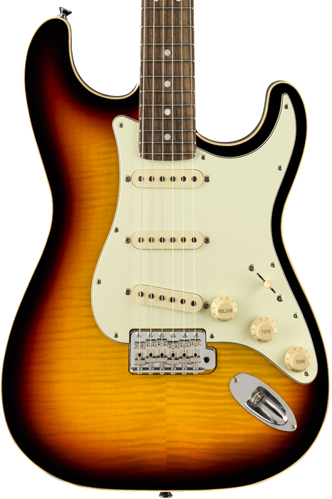 Fender Limited Edition Aerodyne Classic Stratocaster Flame Maple Top Rosewood Fingerboard 3-Color Sunburst with Gig Bag