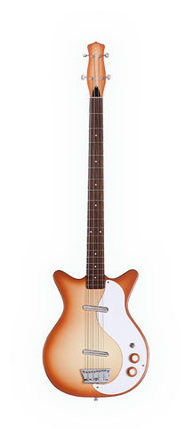 Danelectro '59 DC Long Scale Electric Bass Guitar Copperburst
