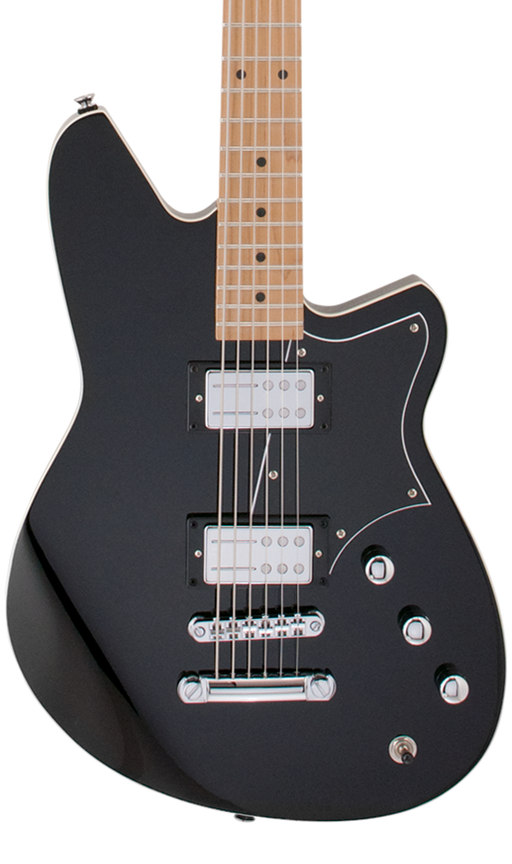 Reverend Descent RA Roasted Maple Neck Baritone Electric Guitar Midnight Black