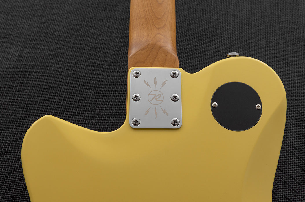 Reverend Flatroc Roasted Maple Neck Electric Guitar Powder Yellow