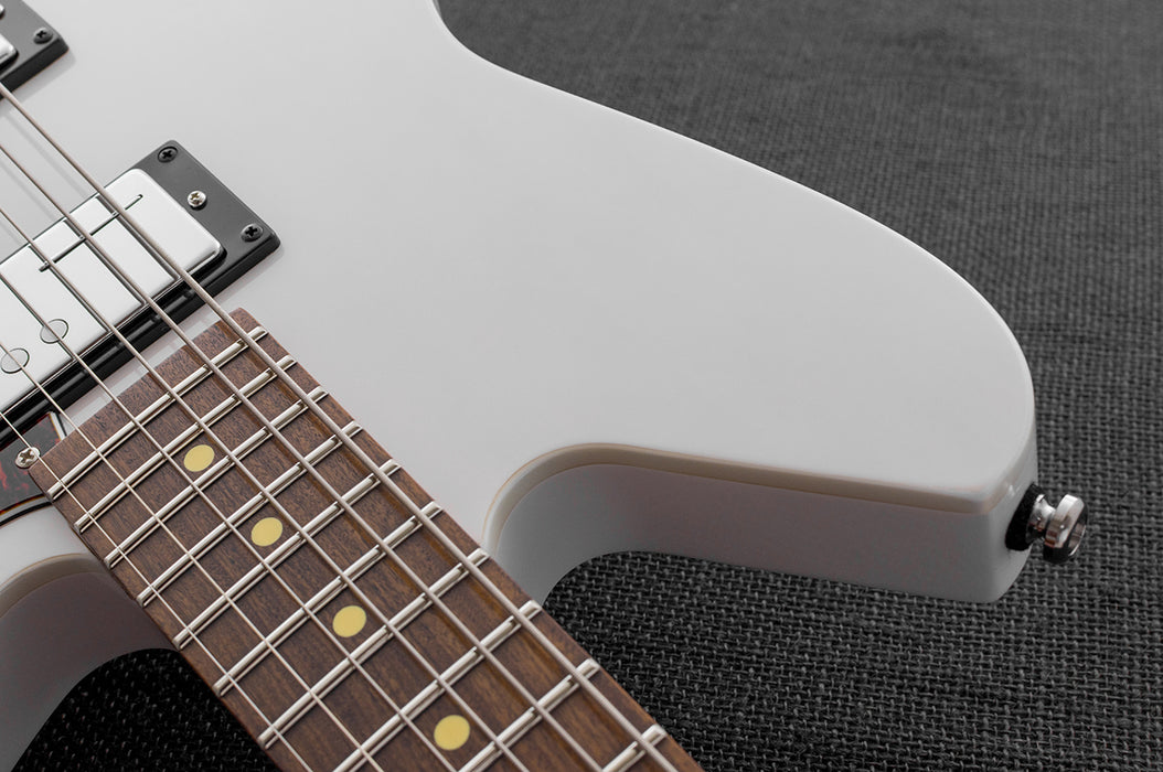 Reverend Descent W Roasted Maple Neck Baritone Electric Guitar Trans White