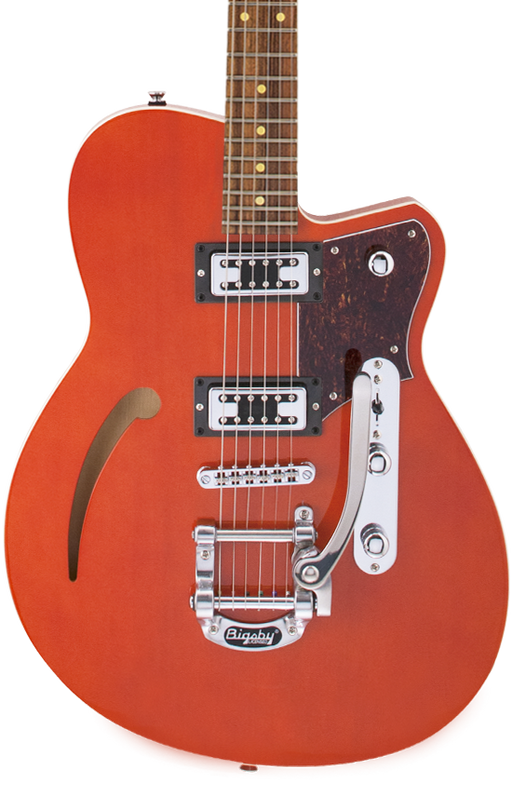 Reverend Club King RT With Bigsby Roasted Maple Neck Electric Guitar Rock Orange