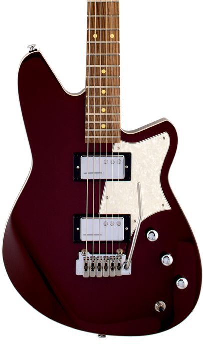 Reverend Descent W Roasted Maple Neck Baritone Electric Guitar Midieval Red