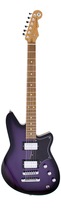 Reverend Descent RA Roasted Maple Neck Baritone Electric Guitar Purple Burst