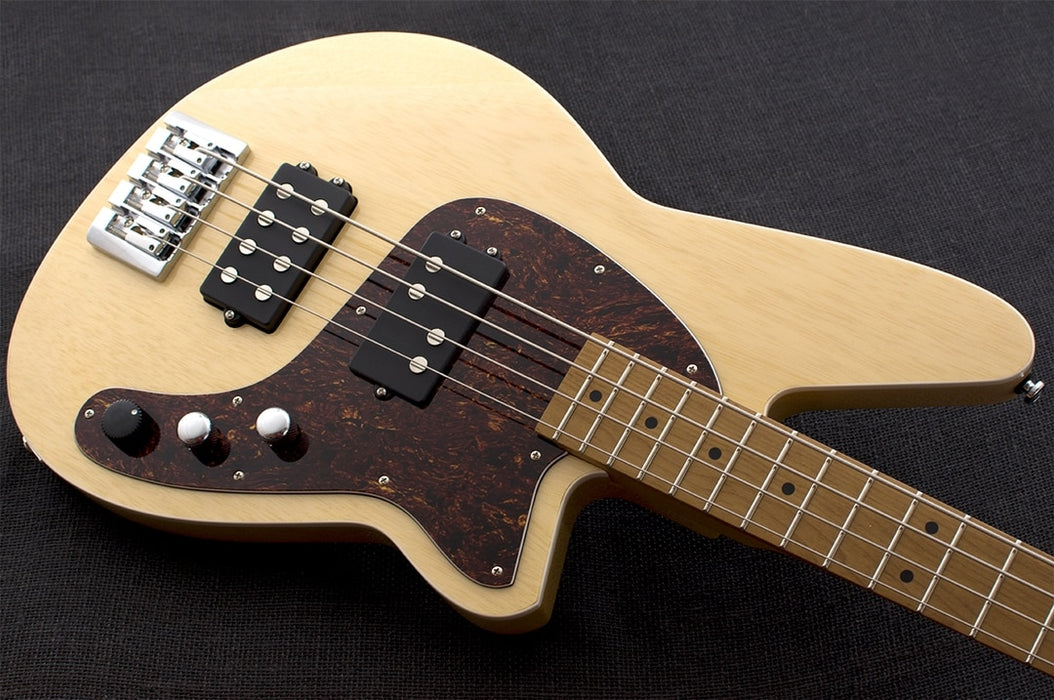 Reverend Mercalli 4 String Electric Bass Guitar Natural