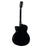 Alvarez ABT60CE-8BK Artist 8-String Baritone Acoustic Cutaway All Black Guitar