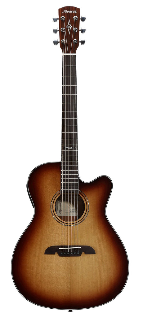 Alvarez AF-60CESHB Cutaway OM/Folk Size Steel String Acoustic/Electric Guitar Shadowburst