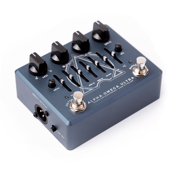 Darkglass Electronics AOUV2 Alpha Omega Ultra Effect Pedal with Aux-In Bass EQ DI Distortion Pedal