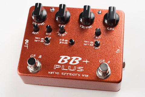 Xotic Effects BB Plus Preamp Overdrive Guitar Pedal