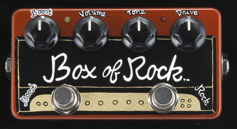 Zvex USA Made Handpainted Box Of Rock Overdrive Guitar Pedal