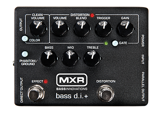 MXR/Dunlop M80 Bass D.I. With Distortion Bass Guitar Pedal