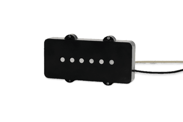 Lindy Fralin P90 Dogear 15% Underwind Bridge Pickup - Black