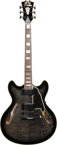 D'Angelico Excel Series EX-DC Semi-Hollowbody Electric Guitar Greyblack
