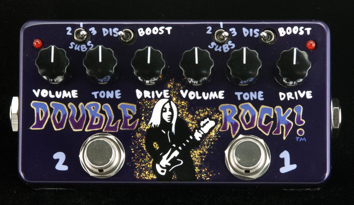 Zvex USA Made Handpainted Double Rock Distortion Guitar Pedal