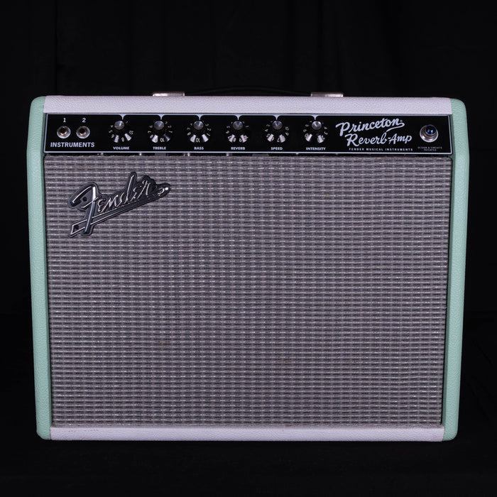 "Used Limited Edition Fender '65 Princeton Reverb ""Surf-Tone Green"" Tube Guitar Amplifier"