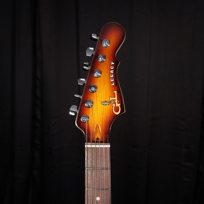 Used G&L Legacy Guitar Sunburst Quilt Maple Top Matching Headstock OHSC