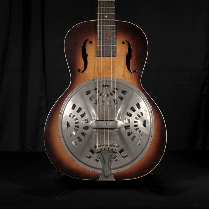 Vintage 1936 Regal Single Cone Resonator Acoustic Guitar With Case