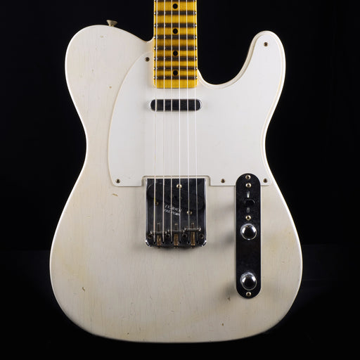 Fender Custom Shop 1955 Telecaster Journeyman Relic Aged White Blonde Electric Guitar With Case