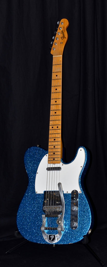 Fender Custom Shop 1967 Telecaster Maple Cap Relic Reissue With Blue Sparkle w/ OHSC C of A
