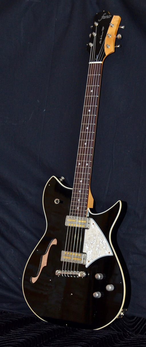 Fano Alt De Facto Semi Hollow RB6T Thinline Bull Black Lollar Gold Foil Pickups W/ OHSC