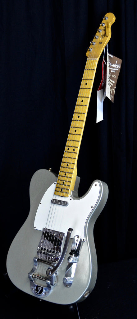 Fender Custom Shop 1967 Telecaster Maple Cap Relic Reissue With Bigsby Inca Silver w/ OHSC C of A