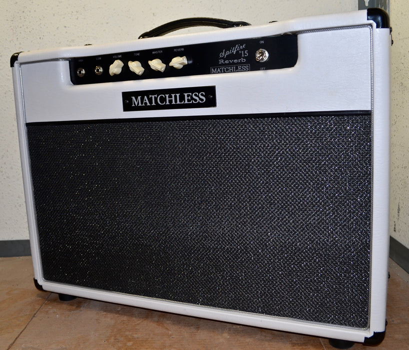 Matchless Spitfire 15 Reverb 1x12 Guitar Amp Combo White