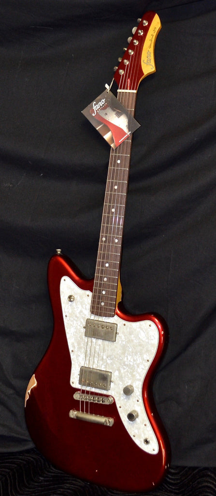 Fano JM6 Standard Humbucker Candy Apple Red With Gig Bag Medium Distress