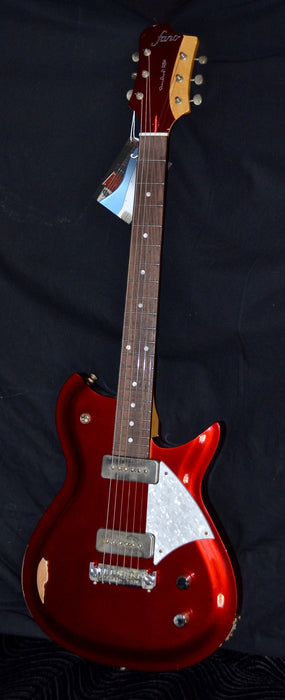 Fano RB6 Standard Candy Apple Red P-90 With Gig Bag Medium Distress