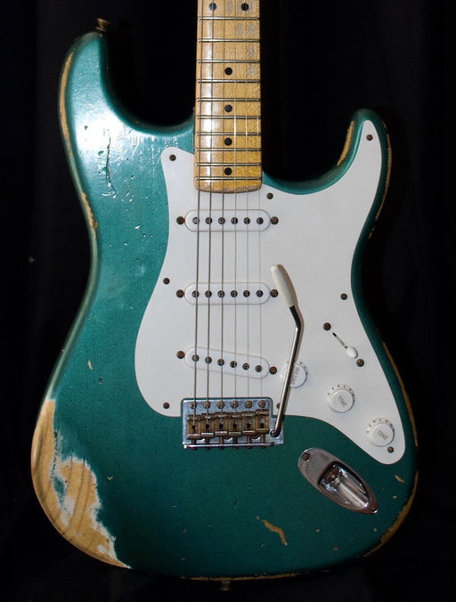 Used 2014 Fender Custom Shop '54 Heavy Relic Stratocaster Sherwood Green With OHSC