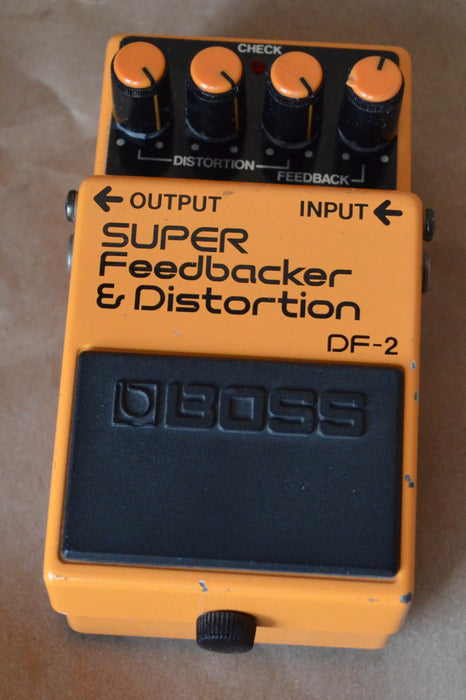 Used Boss DF-2 Super Feedback and Distortion Guitar Effect Pedal MIJ
