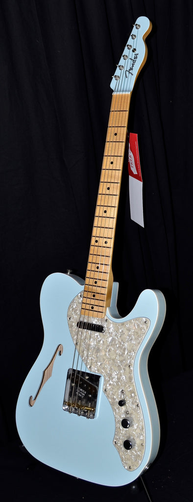 Fender Custom Shop 50's Telecaster Thinline Closet Classic Sonic Blue Matching Headstock
