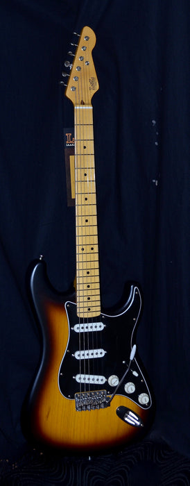 LsL Saticoy Matte Sunburst Finish Swamp Ash Body No Aging Two Tone Sunburst