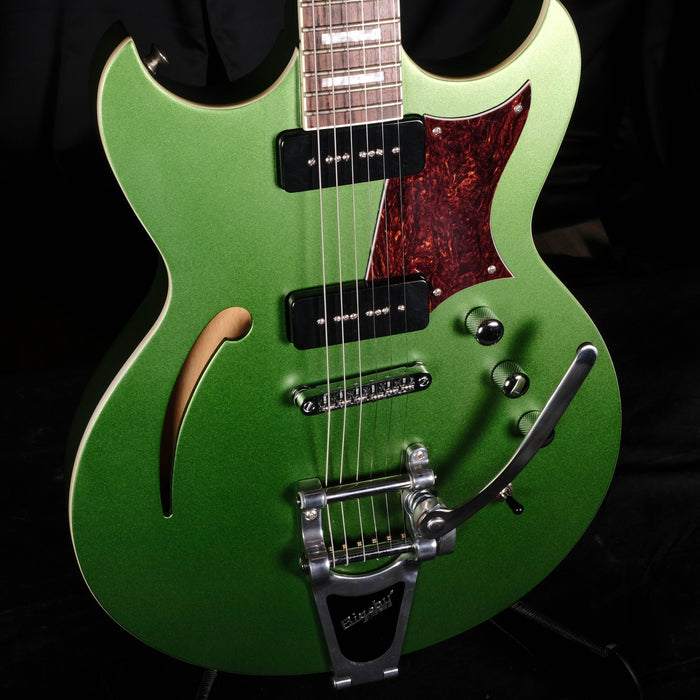 Used Reverend Tricky Gomez 290 Green Metallic Electric Guitar With Bigsby OHSC