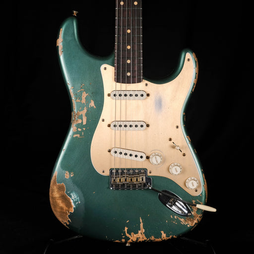 Fender Custom Shop Limited Edition Roasted 1959 Stratocaster Heavy Relic Rosewood Aged Sherwood Green Metallic