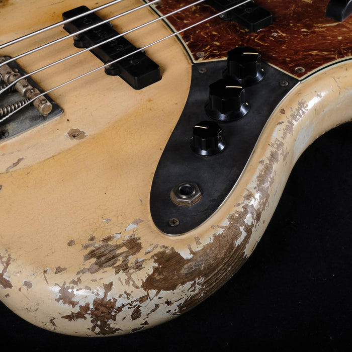 Fender Custom Shop Masterbuilt Vincent Van Trigt 66 Jazz Bass Aged Olympic White Heavy Relic