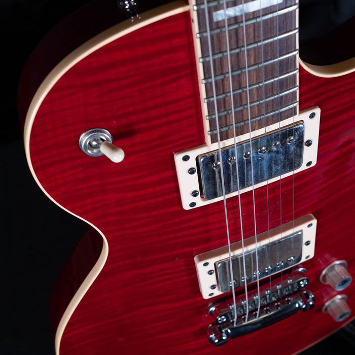 Pre Owned Guild Bluesbird Trans Red Flame Maple USA Made w/ OHSC