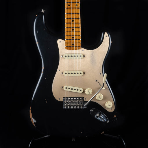 Fender Custom Shop '56 Stratocaster Roasted Relic Aged Black Electric Guitar