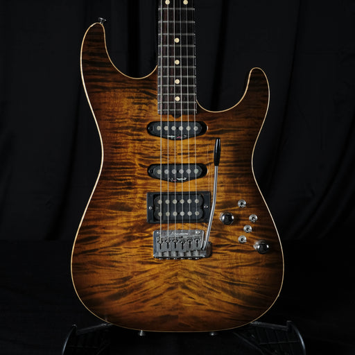 Pre Owned '01 Tom Anderson Drop Top HSS Tiger Eye Electric Guitar W/ OHSC