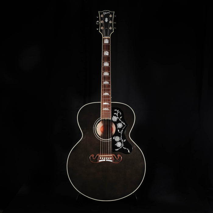 Pre Owned '14 Gibson Custom Shop SJ-200 Acoustic Guitar Trans Black With OHSC