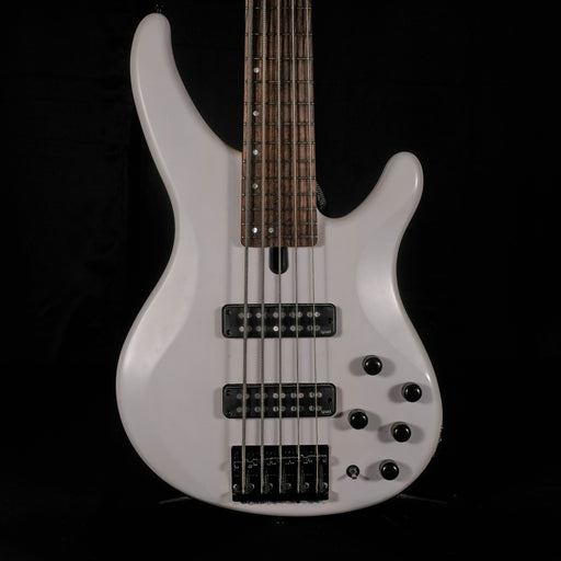 Used Yamaha TRBX505 5-String Bass Guitar Active Electronics Gray With Bag