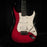 Pre Owned 1989 Fender American Ultra Stratocaster Crimson burst With OHSC
