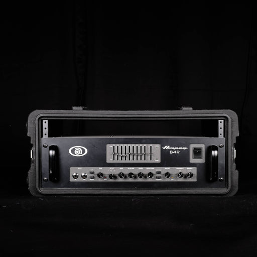 Used Ampeg B4R Bass Guitar Amplifier Head In Rack Case