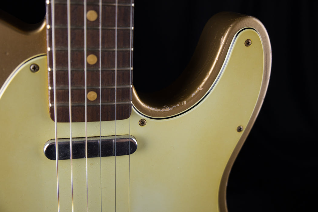 Used Fender Custom Shop Masterbuilt John Cruz MVP Series 60's Telecaster Relic Shoreline Gold