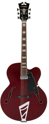 D'Angelico Premier Series EXL-1 Hollow Body Archtop Trans Wine