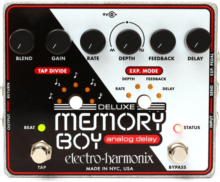 Electro-Harmonix Deluxe Memory Boy Analog Delay Pedal with Tap Tempo