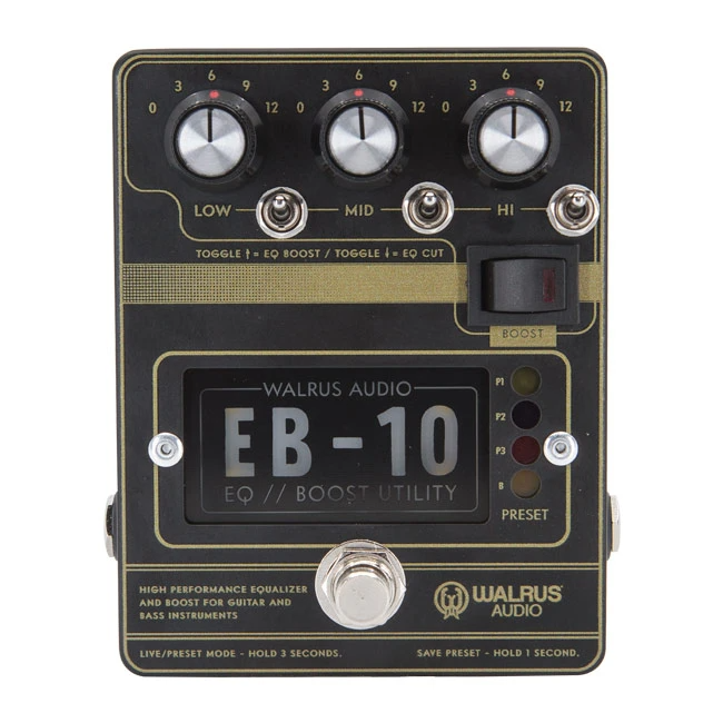 Walrus Audio EB-10 Preamp / EQ / Boost Black
