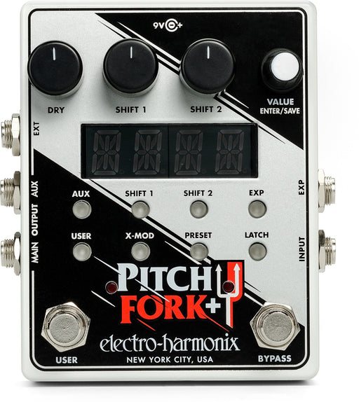 Electro-Harmonix Pitch Fork+ Polyphonic Pitch Shifter/Harmony Pedal Guitar Effect Pedal